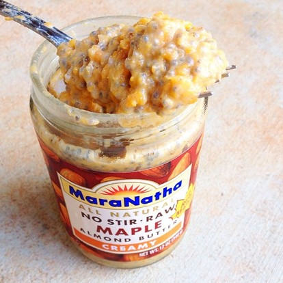 I added this mix into an almost empty jar of Maranantha maple almond butter - pure heaven.