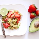 Avocado and Strawberry Quinoa with Lime
