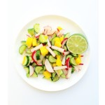 Cucumber, Mango, and Radish Salad with Honey and Lime